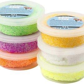 Foam Clay Foam klei kleuren assorti: 6x14 gram