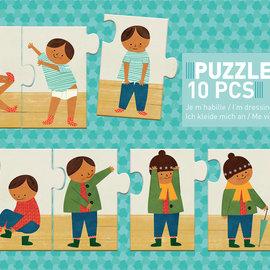 Djeco Djeco 8178 Puzzel trio - Aankleden