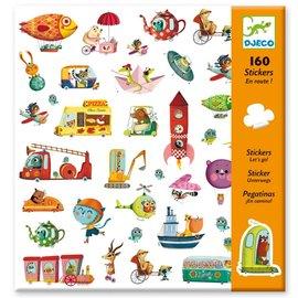 Djeco Djeco 8844 Stickers - Onderweg!