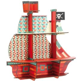 Djeco Djeco 3203 Houten rekje - De piraten schatten