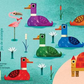 Djeco Djeco 5181 Kaarstpel - Crazy ducks