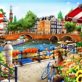 Bluebird Bluebird puzzel Amsterdam (1500 stukjes)