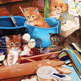 Sunsout SunsOut puzzel Kitties in the Kitchen (1000 stukjes)
