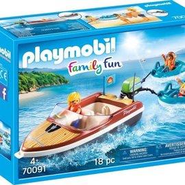 Playmobil Playmobil - Motorboot met funtubes (70091)