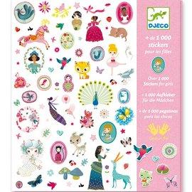 Djeco Djeco 8951 Stickers - 1000 stickers voor meisjes
