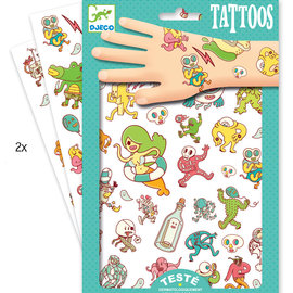 Djeco Djeco 9583 Tattoos - Gekke karakters