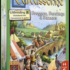 999 Games 999 Games Carcassonne: Bruggen, Burchten en Bazaars (uitbreiding 8)