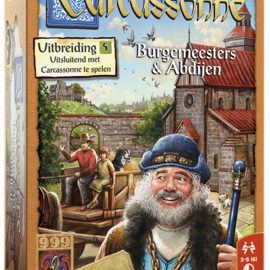 999 Games 999 Games Carcassonne: Burgemeesters en Abdijen (uitbreiding 5)