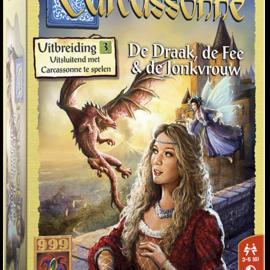 999 Games 999 Games Carcassonne: De draak. de Fee en de Jonkvrouw (uitbreiding)
