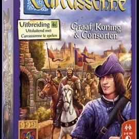 999 Games 999 Games Carcassonne: Graaf, Koning & Consorten (uitbreiding 6)