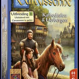 999 Games 999 Games Carcassonne: Kathedralen + Herbergen (uitbreiding 1)