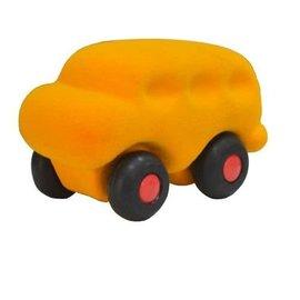 Rubbabu Micro 2Skool bus (geel)
