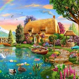 Bluebird Bluebird puzzel Lakeside Cottage (1000 stukjes)