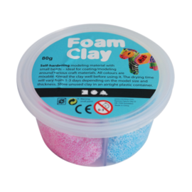 Hobbygroep Foam clay Glitter: 4x 20 gram