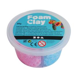 Hobbygroep Foam klei 4 kleurenset glitter. 80 gram totaal