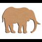 Hobbygroep Olifant MDF 15 cm