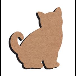 Gomille MDF figuur - Huiskat (15 cm)