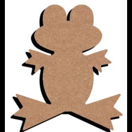 Hobbygroep MDF figuur - Grappige kikker (15 cm)