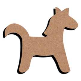 Hobbygroep Grappig paard MDF 15 cm