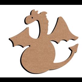 Hobbygroep MDF figuur - Draak  (15 cm)