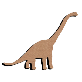 Hobbygroep Dinosaurus lang nek MDF 15 cm