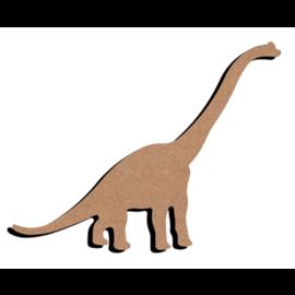 Hobbygroep MDF figuur - Dinosaurus lang nek (15 cm)