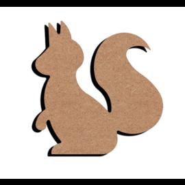 Hobbygroep MDF figuur - Eekhoorn  (15 cm)