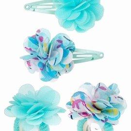 Souza Souza Haar clips Carena met bloem, uni/blauw
