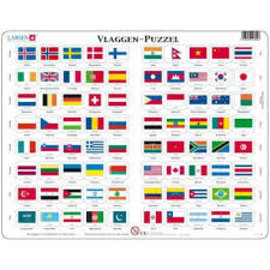 Larsen Larsen puzzel maxi vlaggen van de wereld