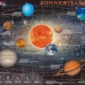 Larsen Larsen puzzel maxi het zonnestelsel