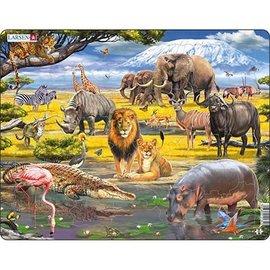 Larsen Puzzel Maxi Dieren Afrikaanse Savanne