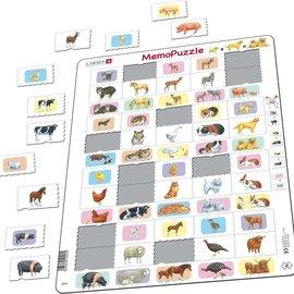 Larsen Larsen puzzel Maxi Memopuzzel Dieren