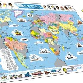 Larsen Larsen puzzel Maxi kaart  wereld