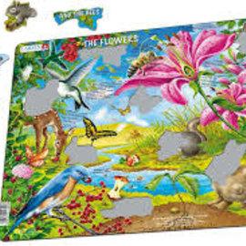 larsen Puzzel Maxi De bloemen en de bijen