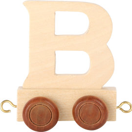 Houten lettertrein Letter B