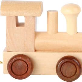 Legler Houten lettertrein Locomotief blank