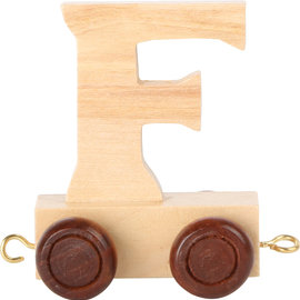 Houten lettertrein Letter F