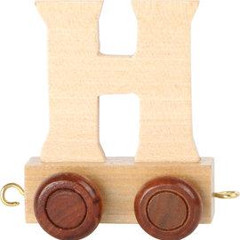Houten lettertrein Letter H