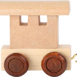 Houten lettertrein Wagon blank