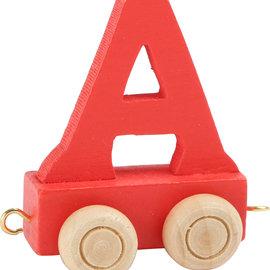 Houten Lettertrein Letter A (rood)
