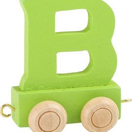 Houten Lettertrein Letter B (groen)
