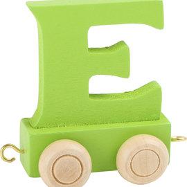 Houten Lettertrein Letter E (groen)