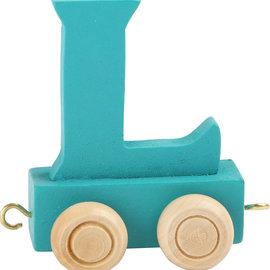 Legler Houten Lettertrein Letter L (turquoise)