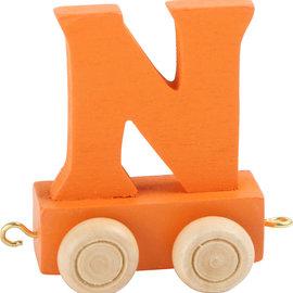 Legler Houten Lettertrein Letter N (oranje)