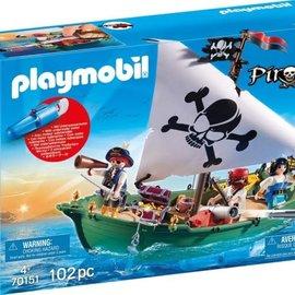 Playmobil Playmobil - Piratenschuit met onderwatermotor (70151)