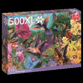 Jumbo Jumbo Premiun Quality puzzel Een tuin vol kolibri's (500 XL stukjes)