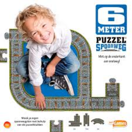 Justgames Vloerpuzzel Spoorweg + Snelweg (6 meter)