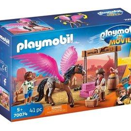 Playmobil Playmobil Marla en Delmet gevleugeld paard (70074)