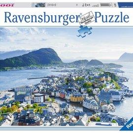 Ravensburger Ravensburger puzzel Blik over Alesund (1000 stukjes)