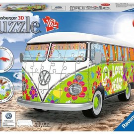 Ravensburger Ravensburger 3D puzzel Volkswagen T1 Hippie style (162 stukjes)